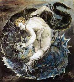 Michael binding satan (i want the Danzig.IV angel/devil yin-yang though)