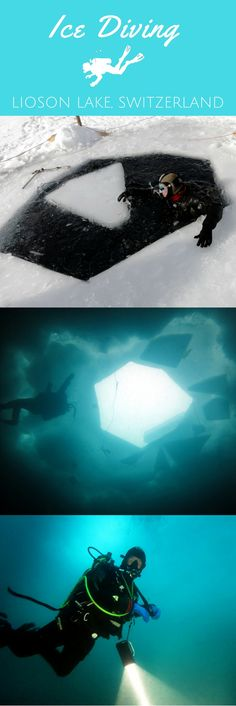 Becoming a certified ice diver in Switzerland - World Adventure Divers - ice diving, scuba diving training, Swiss Alps, Lake Lioson - https://worldadventuredivers.com/2014/02/23/becoming-a-certified-ice-diver-in-switzerland/