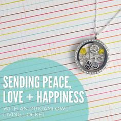 Sending Peace, Love & Happiness your way! #origamiowl #fashion #newyear #gift  www.dollinevance.origamiowl.com