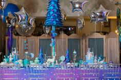 children's birthday, holiday decoration, decor, snow decor, день рождения, дети, детский день рождения, оформление дня рождения, оформление детских праздников, день рождения мальчика, холодное сердце