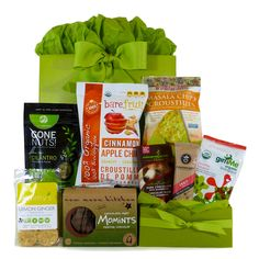 Snacks For The Vegan Gourmet Gift Basket.