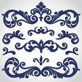 Barocke Ornament im viktorianischen Stil — Stockvektor