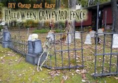 HALLOWEEN DECORATIONS : IDEAS & INSPIRATIONS: Spooky Halloween Graveyard