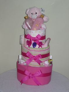 Baby and Mum Pamper Nappy Cake