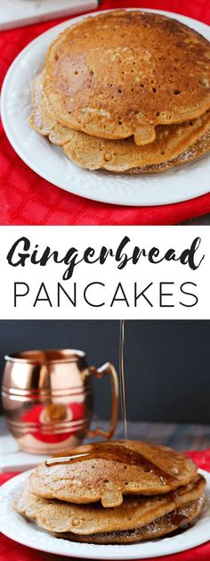 Flavored with wonderful spices, these gingerbread pancakes are a nice change from the traditional version and make the perfect Christmas morning breakfast.