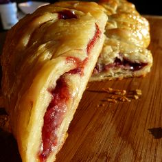 This Cream Cheese and Jam Danish takes some work to prepare the dough, but is very tasty.. Cream Cheese and Jam Danish Recipe from Grandmothers Kitchen.
