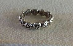 Sterling Silver Berry Flower Ring Eco Friendly by TheBleuGiraffe, $25.00