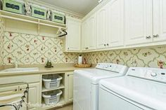 Laundry room from Our Southern Home #laundryroom
