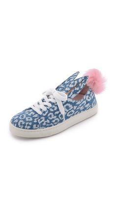 Minna Parikka Fur Tail Sneakers, same colour combination than pumps, but flat model.