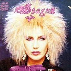 Spagna's big 80s hair!
