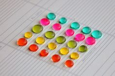 DIY: enamel dots - They make such a pretty and easy embellishment to use in cards or any crafts!