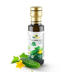 Certified Organic Cold Pressed Cucumber Seed Oil 100ml Biopurus The oil is cold pressed from cleaned and dried cucumber seeds. After that, the seeds are carefully filtrated. In result, bright yellow oil with the slight aroma of a fresh cucumber is obtained. Cucumber seed oil contains approximately 14 to 20 % of oleic acid and 60 to 68 % of omega-3-linoleic acid which makes it a great choice for moisturising preparations intended for skin and hair care...