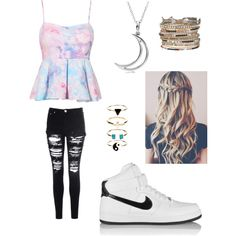 Untitled #3 by birdiesmind on Polyvore featuring polyvore fashion style Glamorous NIKE maurices Allurez Accessorize
