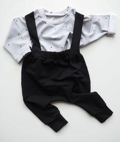 Kleine Baasjes Organic -  Raglan Shirt Dots Grey