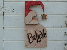 etsy primitive wood santa decor | Hanging Primitive Wood Santa with Homemade Star, Christmas Wood ...
