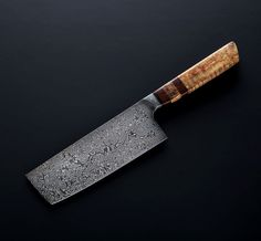 Explore a selection of unique, handmade and specialized eating and cooking tools. Custom kitchen knives, titanium chopsticks, handmade flatware and everything in between. Custom Kitchen Knives, Japanese Kitchen Knives, Custom Knives, Stabilized Wood, Best Pocket Knife, Handmade Kitchens, Cool Knives, Knife Handles, Chef Knife