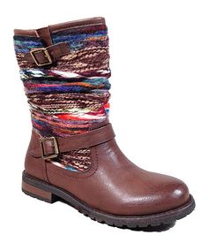 Another great find on #zulily! Brown Yarn Boot by Dollhouse #zulilyfinds