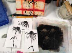 flower monoprint linda germain