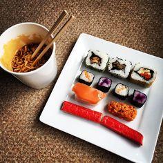 #lunch #sushi #ramen #yum Ramen, Sushi, Lunch, Photo And Video, Photography, Instagram, Photograph, Eat Lunch, Fotografie