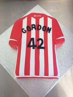 Southampton FC shirt birthday cake
