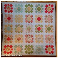 Spin Cycle by Cluck, Cluck, Sew with Strawberry Fields fabric by Fig Tree Cluck Cluck Sew, Tree Quilt, Strawberry Fields, Fig Tree, Spinning, Quilt Patterns, Projects To Try, Quilts, Blanket