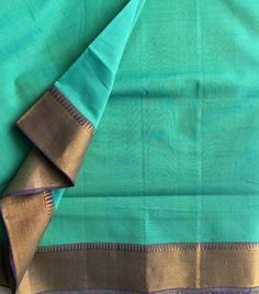 Edit: SOLD OUT! Sea green splendor A lovely shade of pristine sea, calm and serene will make this mangalgiri nizam border saree with pure jari a wardrobe favorite