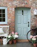 Gorgeous colours!  Colours Shown  Door: Celestial Blue 101  Bench: French Grey 113  Watering Can: Slaked Lime 105  Bird House: Shirting 129
