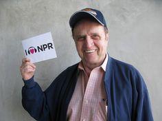 Another NPR devoted heart: Bob Newhart! We heart you too, Bob. (July 2012)