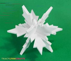 Make 3D Snowflakes from Craft Foam - Tracy Lynn Crafts You can make these 3D craft foam snowflakes to fill your tree with holiday fun!