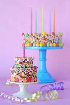 Made using Fruity Pebbles cereal...super easy and very cute idea for kid's birthday party