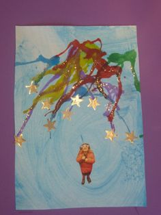 DIY Kids, this awesome art, looks difficult but. Take a straw, a Paper… Christmas Art, Christmas And New Year, Diy For Kids, Crafts For Kids, Firework Painting, Fireworks Pictures, Fireworks Craft, Art Projects, Projects To Try