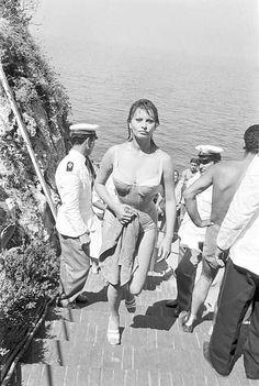 Italian actress Sophia Loren on the set of the film 'It Started in Naples' 1959