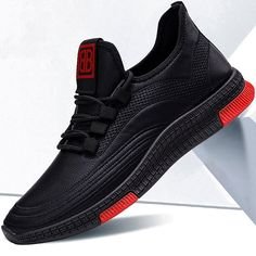 2020 new spring sneakers fashion black casual shoes thick bottom Breathable running footwear zapatillas hombre, #men #menshoes #sneaker #boot #menfashion #MensBoots #MensCasualShoes #CasualShoes #Loafers #Oxfords Black Casual Shoes, Black High Top Shoes, Boat Shoes, Men's Shoes, Male Shoes, Summer Sneakers, Fashion Black, Running Shoes For Men, Types Of Shoes