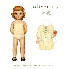 Oliver + S Apple Picking Dress 6 M-4T from @fabricdotcom  Girl's dress pattern in sizes 6-12 M, 12-18 M, 18-24 M, 2T, 3T, 4T. <br><a href=https://s3.amazonaws.com/fabric-pdf/OSO-051.pdf>Click here for pattern back.</a> <br>