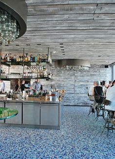 Interior design | decoration | restaurant design | Duck & Waffle | London....