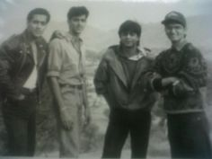 On the set of Karan Arjun with Salman & Hrithik. . . .