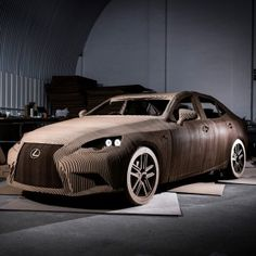 Lexus unveils fully drivable car made from cardboard