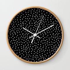 dots, black and white, clock Clock Craft, Diy Clock, Clock Decor, Clock Ideas, Wall Watch, Cool Clocks, Wooden Clock, My New Room, Vintage Watches
