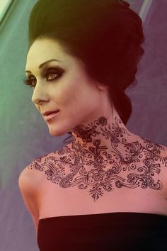 Awesome Bridal Neck Henna Designs for Christmas