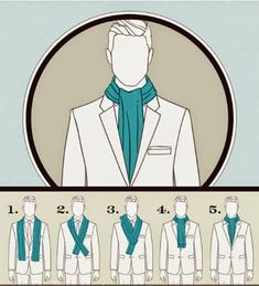 How to tie a Scarf? Mens Scarf Fashion, Big Men Fashion, Mens Fashion Suits, Ways To Wear A Scarf, How To Wear Scarves, Scarf Knots, Tie Knots, Clothing Hacks, Mens Clothing Styles
