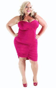 I want it!  Plus Size Dress Club Wear Ruched Blk