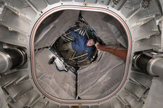 ESA astronaut Paolo Nespoli completes some tests in the Bigelow Expandable Activity Module, or BEAM, on the International Space Station. International Space Station, Space Exploration, Spacecraft, Habitats, Beams, Astronaut, Image, Nasa Space, Cyberpunk