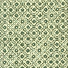 Green Star Flower Print Italian Paper ~ Carta Varese Italy