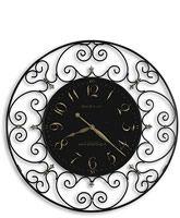36 Joline Wrought Iron Clock Black Iron 625-367