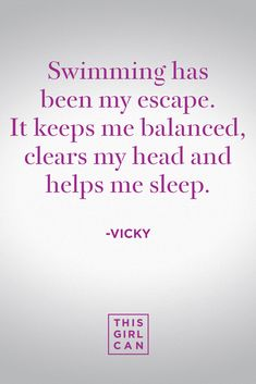 Vicky loves to swim because of the benefits to her mental health #MyReason