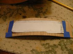 Here's the cutout of the pencil rubbing, ready to be traced on to the curved piece of maple.