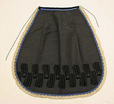 ca. 1865, silk & cotton (lace)