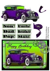 male purple car on Craftsuprint - View Now!