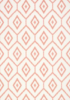 Bari Ikat in from the Caravan collection. Bari Ikat in from the Caravan collection. Coral Pattern, Ikat Pattern, Abstract Pattern, Fabric Patterns, Print Patterns, Diamond Pattern, Large Print Wallpaper, Coral Wallpaper, Pattern Wallpaper