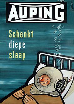 Auping Beds  'for deep sleep'  c.1954